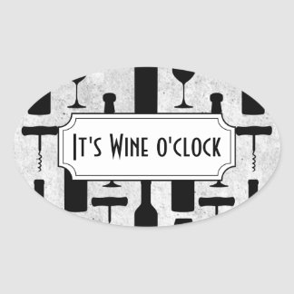 Sticker Ovale Vin