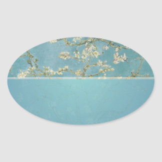 Sticker Ovale Vincent van Gogh, fleurs d'amande