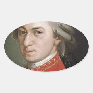 Sticker Ovale Wolfgang Amadeus Mozart