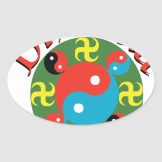 Sticker Ovale Yin Yang Dharma