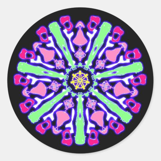Sticker psychédélique coloré n°3