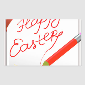 Sticker Rectangulaire 150Happy Easter_rasterized