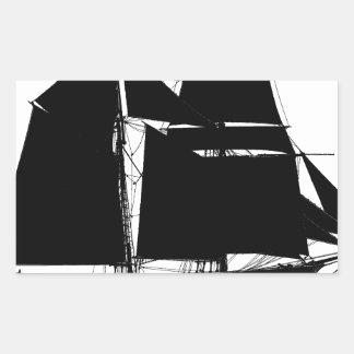 Sticker Rectangulaire 1883 schooner de hunier - fernandes élégants