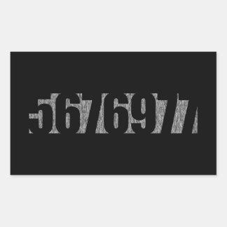 Sticker Rectangulaire 5676977 - Le traitement