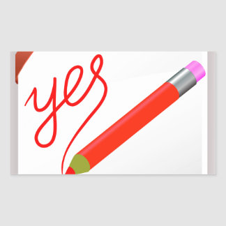 Sticker Rectangulaire 72Red Pencil_rasterized