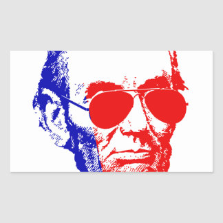 Sticker Rectangulaire Abraham Lincoln