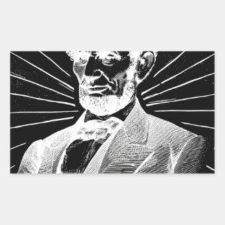 Sticker Rectangulaire Abraham Lincoln grunge