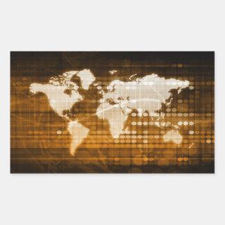 Sticker Rectangulaire Accès global des solutions de service et de