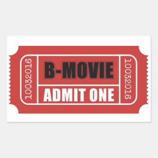 Sticker Rectangulaire Admettez un - Billet de B-Film