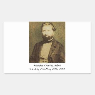 Sticker Rectangulaire Adolphe Charles Adam, 1855