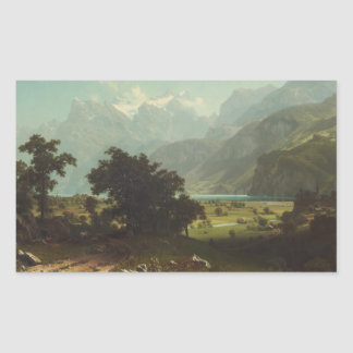 Sticker Rectangulaire Albert Bierstadt - luzerne de lac