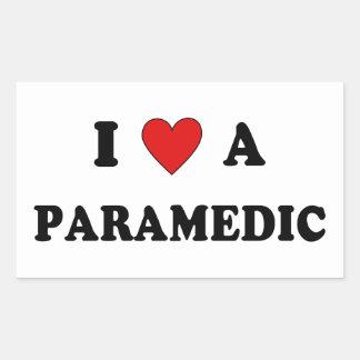 Sticker Rectangulaire Amour de SME I un infirmier