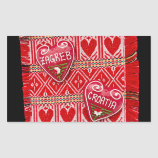 Sticker Rectangulaire Amour de Zagreb
