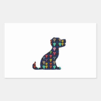 Sticker Rectangulaire AMUSEMENT de l'animal de compagnie NVN96
