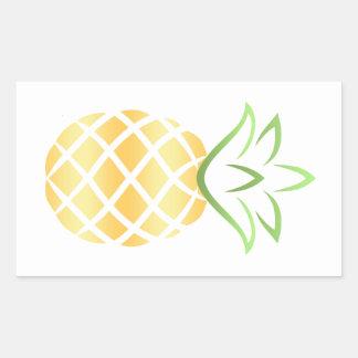 Sticker Rectangulaire Ananas Aloha Hawaï !