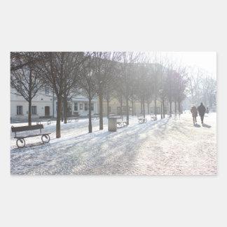 Sticker Rectangulaire Arbre d'hiver à Prague (République Tchèque)