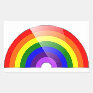 Sticker Rectangulaire Arc-en-ciel