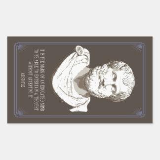 Sticker Rectangulaire Aristote a instruit l'esprit
