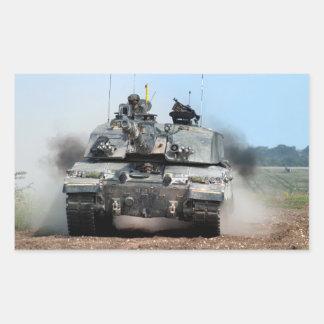 Sticker Rectangulaire Armée britannique de char de bataille (MBT) du