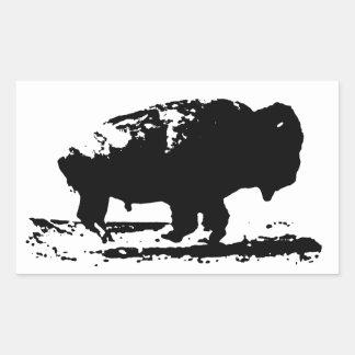 Sticker Rectangulaire Art de bruit courant de bison de Buffalo