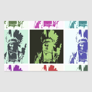 Sticker Rectangulaire Art de bruit Geronimo