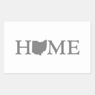 Sticker Rectangulaire Art de mot de l'État d'ORIGINE de l'Ohio