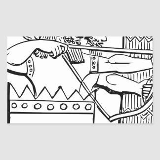 Sticker Rectangulaire Art grec de guerrier