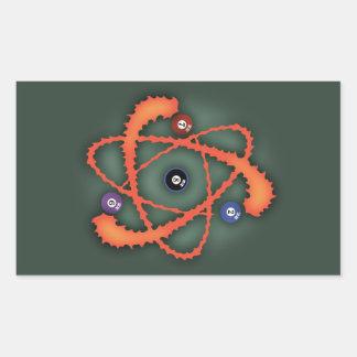 Sticker Rectangulaire Atome II de piscine