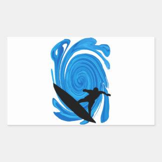 Sticker Rectangulaire Augmentation de francs-tireurs