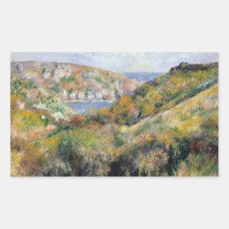 Sticker Rectangulaire Auguste Renoir - collines autour de la baie