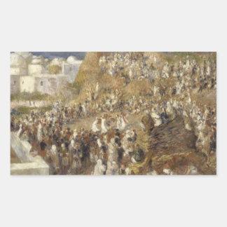 Sticker Rectangulaire Auguste Renoir - la mosquée