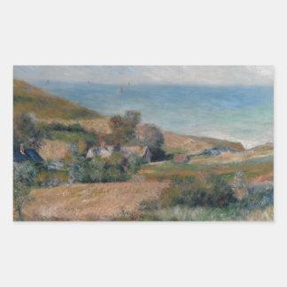 Sticker Rectangulaire Auguste Renoir - vue du littoral