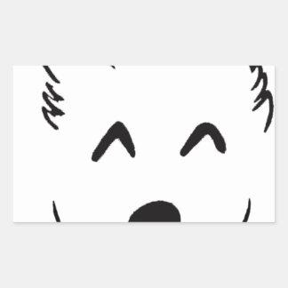 Sticker Rectangulaire Baby dog