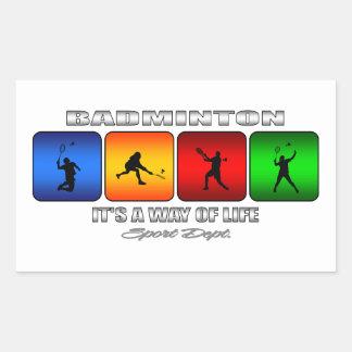 Sticker Rectangulaire Badminton frais c'est un mode de vie