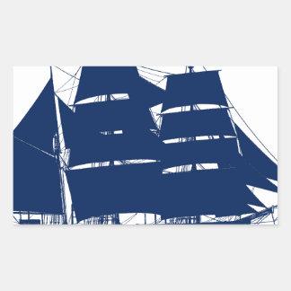 Sticker Rectangulaire baleinier élégant Charles Morgan de fernandes