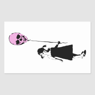 Sticker Rectangulaire Balloon Girl