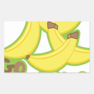 Sticker Rectangulaire Banane