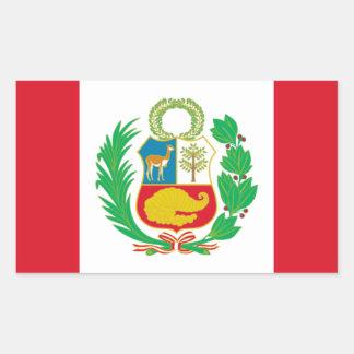 Sticker Rectangulaire Bandera del Perú - drapeau du Pérou