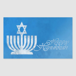 Sticker Rectangulaire Bénédictions du Menorah