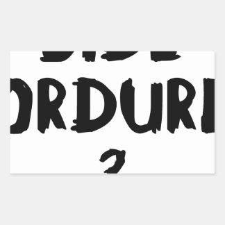 Sticker Rectangulaire BIDE ORDURE ? - Jeux de Mots - Francois Ville