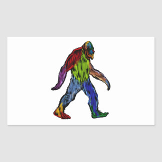 Sticker Rectangulaire Bigfoot dans son ensemble