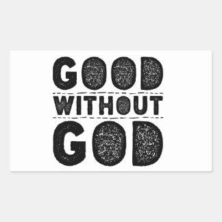 Sticker Rectangulaire Bon sans Dieu