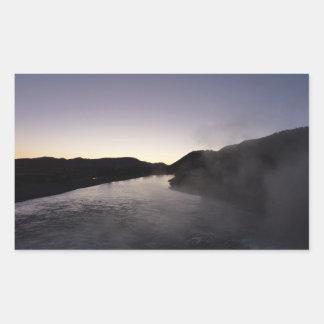 Sticker Rectangulaire Brouillard de matin sur la rivière de Jackson chez