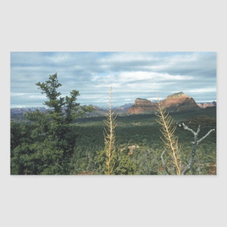 Sticker Rectangulaire Butte Sedona Arizona de capitol