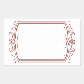 Sticker Rectangulaire Cadres artistiques de frontière de modèle :