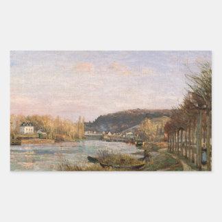 Sticker Rectangulaire Camille Pissarro - la Seine chez Bougival