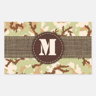 Sticker Rectangulaire Camouflage de désert