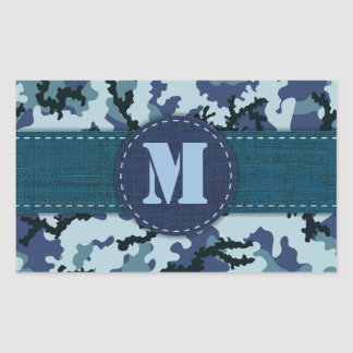 Sticker Rectangulaire Camouflage de marine