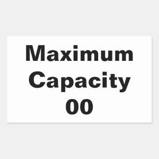 Sticker Rectangulaire Capacité maximale