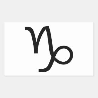 Sticker Rectangulaire Capricorne
